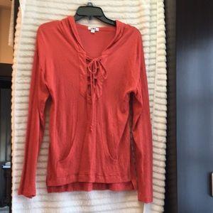 Tops - Long sleeve sexy hooded tunic